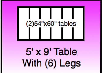 5x9 table