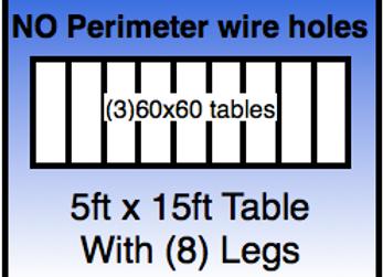 5x15 table - No Holes
