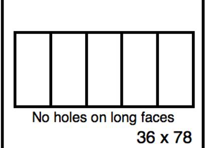 Rectangular Benchwork – 36 x 78