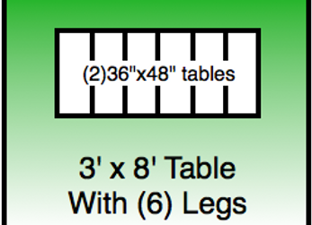 3x8 table