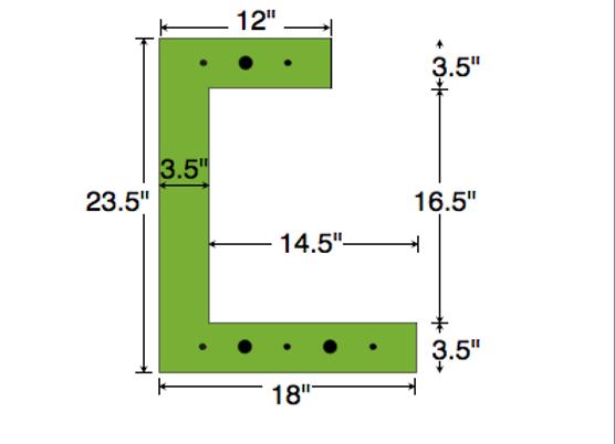 Dual Deck Bracket 18″ – 12″, bundle of 4