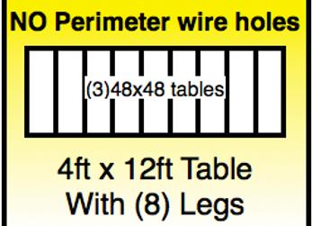4x12 table -No Holes