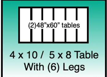 4x10 / 5x8 table