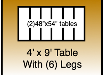 4x9 table