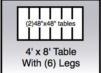 4x8 table