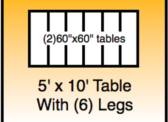5x10 table