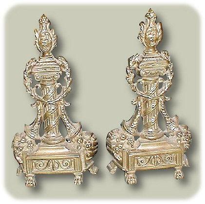 French Brass Andirons