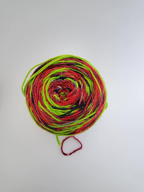 Poison Apple  Dyed By Darrell Self Striping Sock