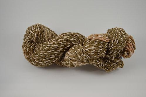 Brown tones cotton merino plied yarn