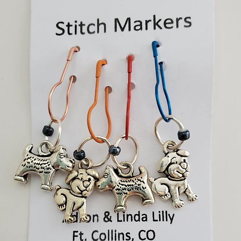 Puppies Local Lilly stitch markers