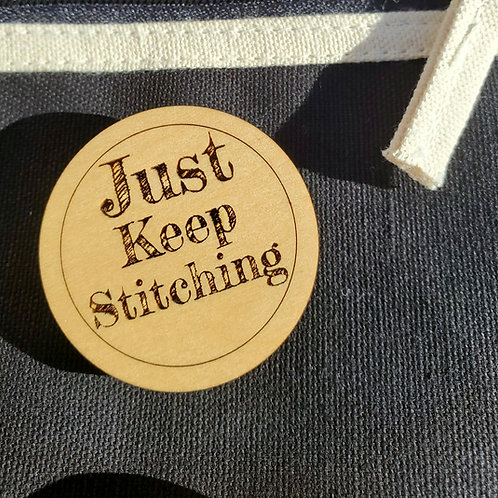 Just Keep Stitching Pin