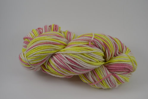White, yellow and pink Sparkle DK