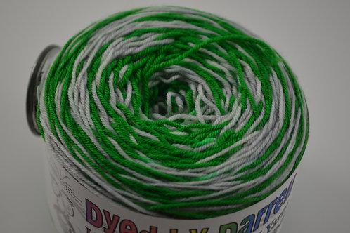 Green and Silver (snake house) Self Striping Sock Yarn