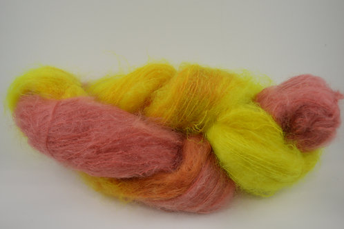 Gold and Red and bright yellow Mohair