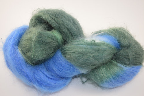 Blue and Green Mohair