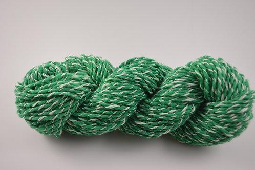green cotton merino plied yarn