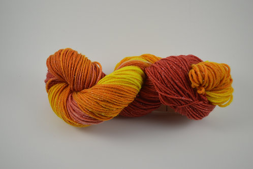 Red, Yellow and Orange Sparkle DK
