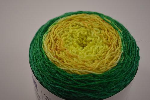 Green to Bright Yellow Gradient Sock Yarn