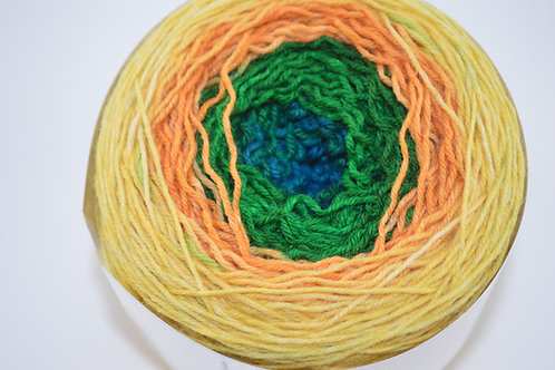 Yellow to Green Gradient Sock Yarn