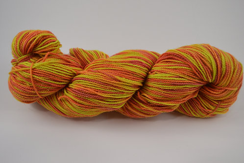 Yellow and Red Sparkle Sock Yarn