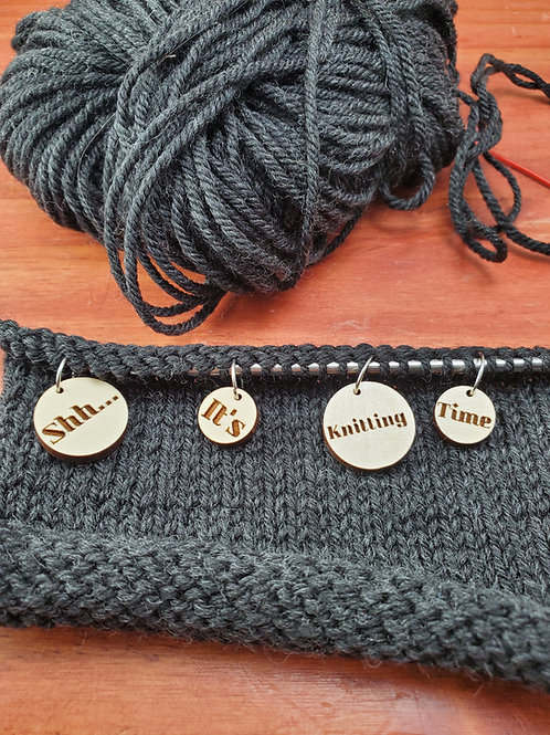 Shh.... It's Knitting Time Stitch Markers