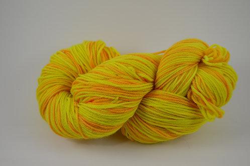 Neon yellow and orange Superwash Merino