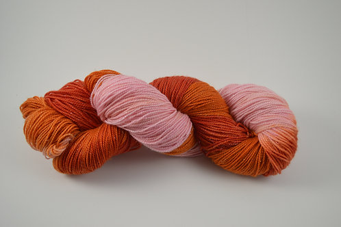 Pink, Red and Orange Sparkle Sock Yarn