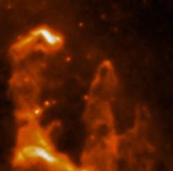 ESA ISO MIR Pillars of Creation