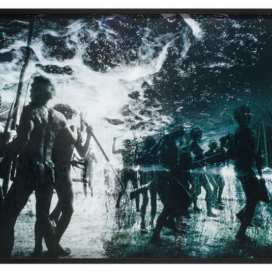CLAUDIA ANDUJAR Desabamento do céu / fim do mundo (série Sonhos Yanomani) | 1976 Fotografia impressão com tinta pigmentada mineral sobre papel Canson BFK Rives 310 gr 66 x 99 cm Coleção particular