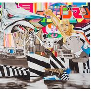 CLAUDIO TOBINAGA Banzai | 2019 Acrílica e óleo sobre tela 200 x 150 cm
