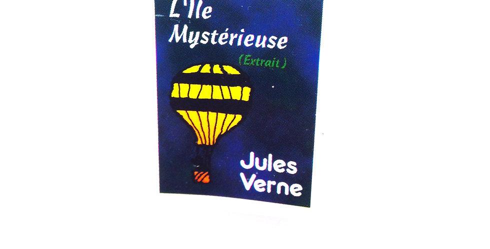 Bague Mini-Livre L'ÎLE MYSTÉRIEUSE Jules Verne, ajustable
