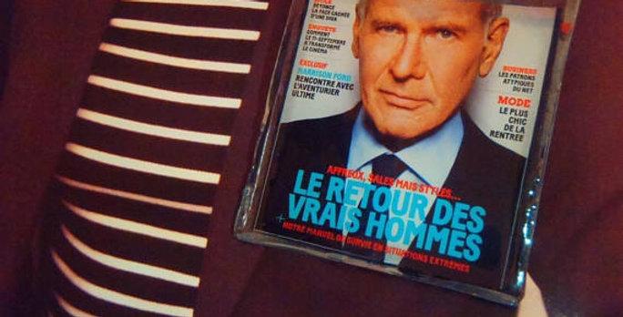 Broche LE RETOUR DES VRAIS HOMMES, Harrison Ford, en résine