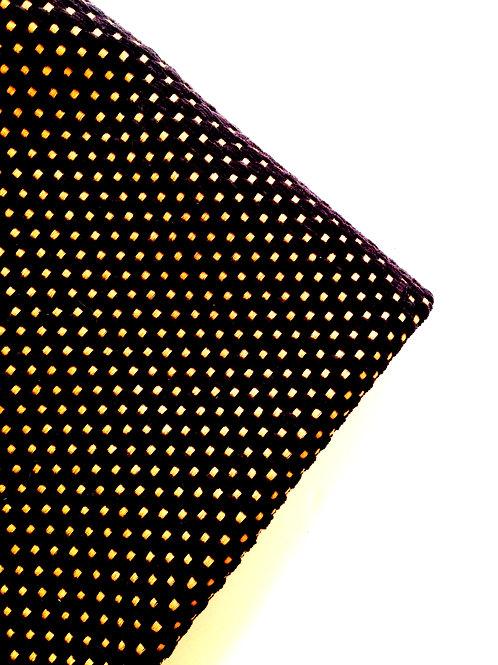 Tissu -- Coupon de velours brun et beige, chute, toile épaisse 59 x 137 cm