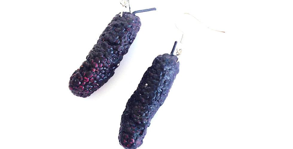 Boucles d'oreilles MULBERRIES, fruits miniatures