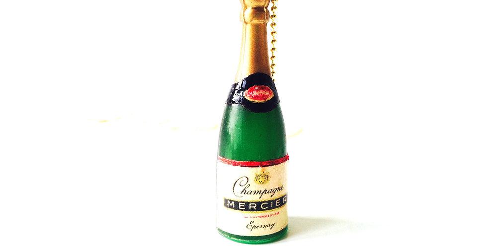 Sautoir CHAMPAGNE on the Beach, bouteille de champ miniature