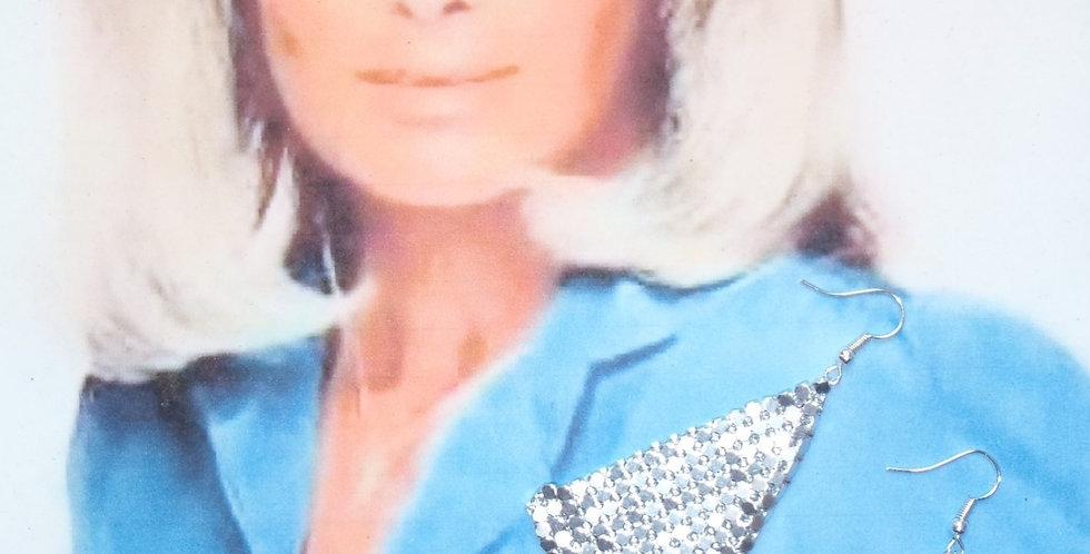 Boucles d'oreilles KRYSTLE, argentées, triangle