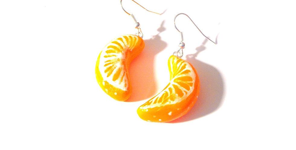 Boucles d'oreilles LA VITAMINE C, quartiers d'orange