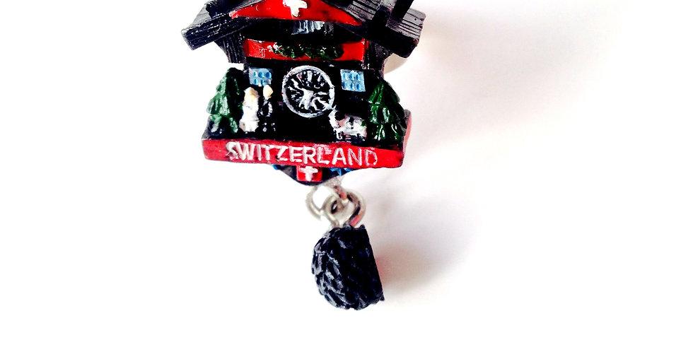 Bague COUCOU !!, horloge à coucou suisse miniature