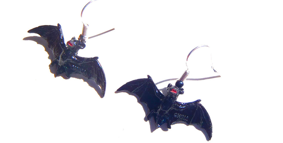 Boucles d'oreilles BAT GIRL, chauve-souris miniatures
