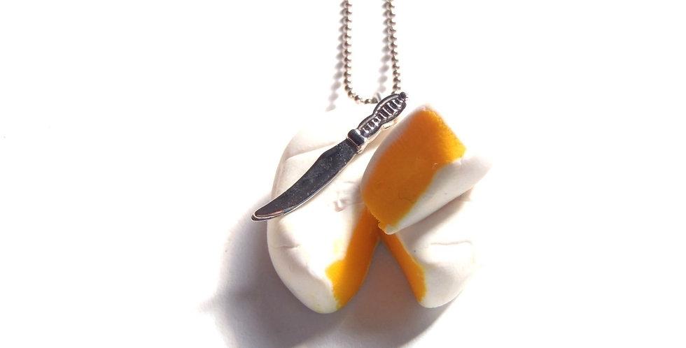 Sautoir LE P'TIT CLACOS, camembert miniature