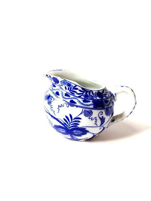 Pot à lait, service à thé en porcelaine fine de Chine, bleu et blanc