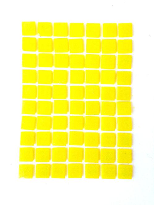 Tesselles de Mosaïque pâte de verre 2 x 2 cm jaune citron, 200 grs
