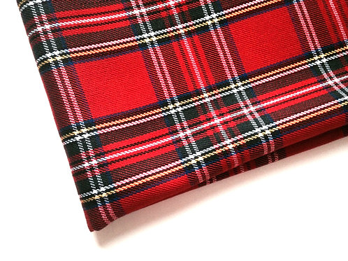 "TARTAN écossais, ""ROYAL STEWART"", Medium Weight, rouge coupon 80 x 144 cm"