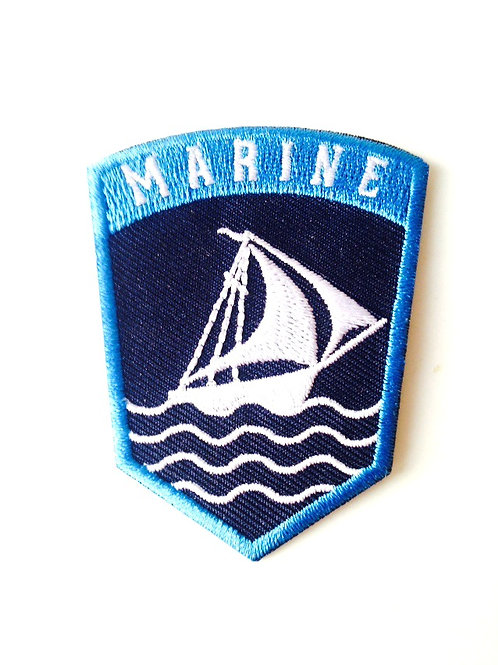 Patch brodé Thermocollant Marine