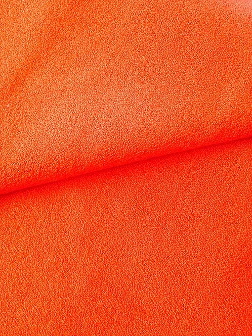Tissu - morceau de toile fine bouclée synthétique orange 144 x 72 cm