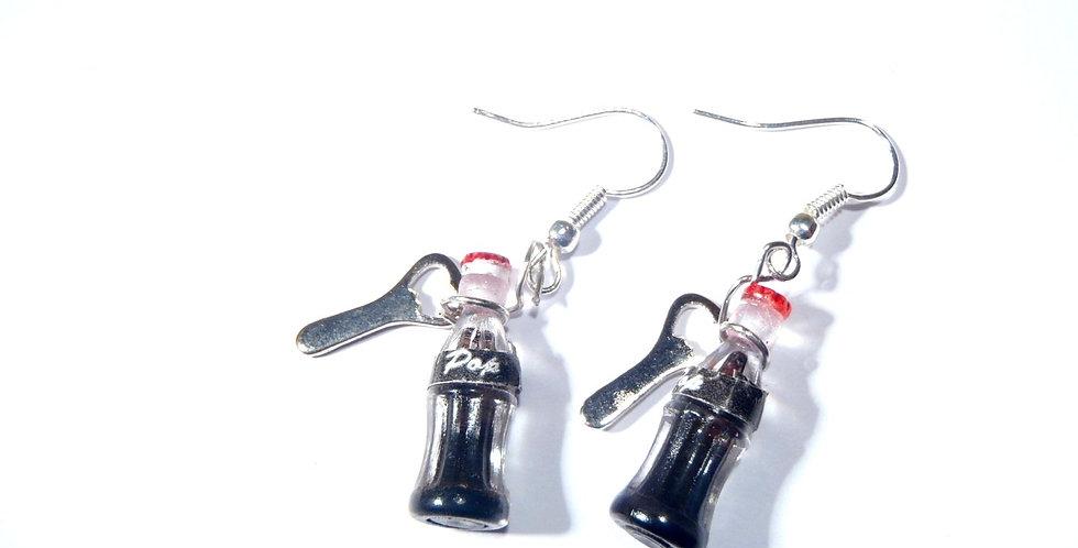 Boucles d'oreilles PSCHHHHHHH, bouteilles miniatures