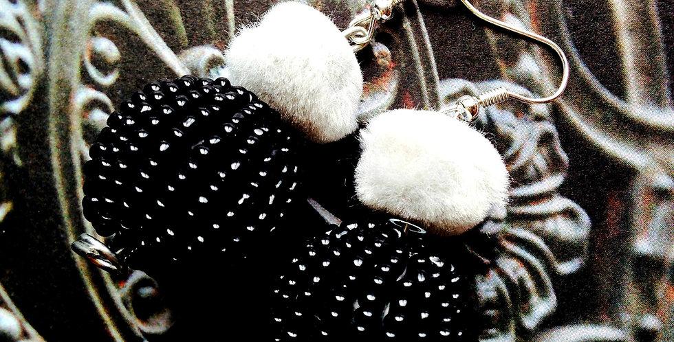Boucles LES VÉNITIENNES, Caviar, boucles perlées