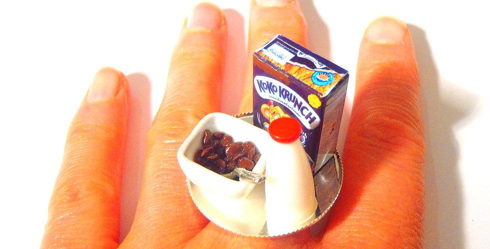 Bague KOKO KRUNCH, céréales chocolat miniatures