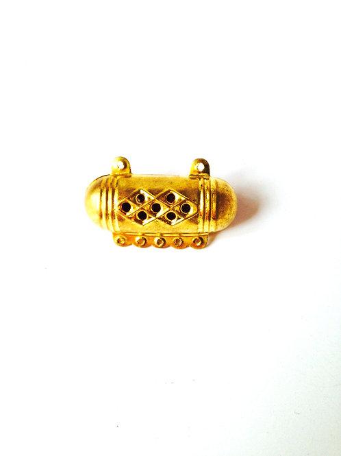 Perle connecteur thaï, en métal doré