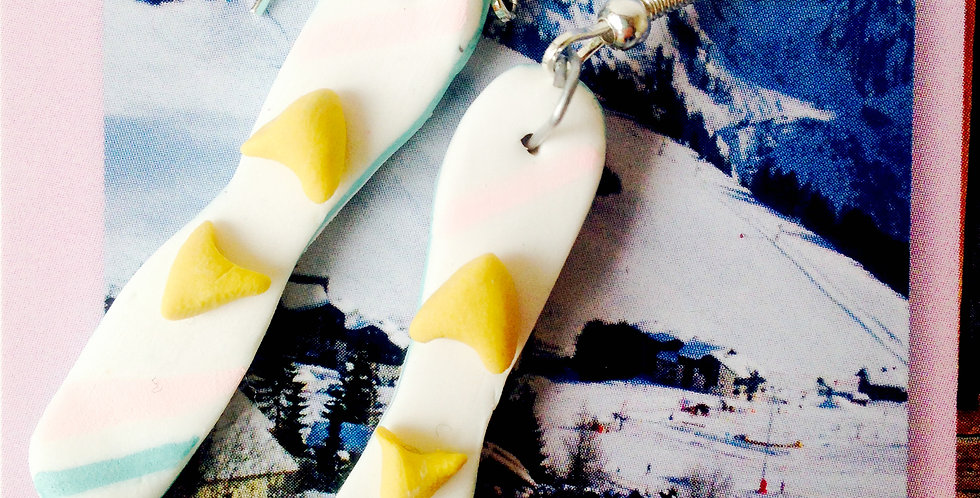Boucles d'oreilles LES TOUT P'TITS SKIS, skis pour enfant